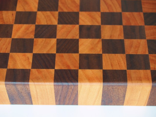 Walnut and cherry cutting board