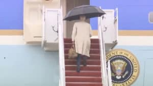 WATCH: Joe Biden Slowly Climbs Steps to Air Force One, Nearly Slips Again at the Top