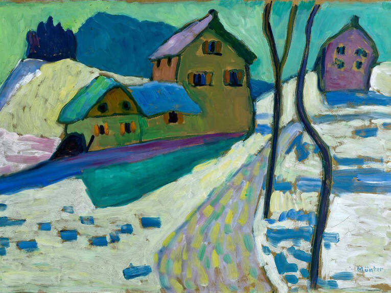 Kind Hannover Gabriele Münter: Winterlandschaft