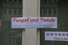 Pömpel und Pedale Eine PlatzDa!-Aktion für mehr Sicherheit Plakat