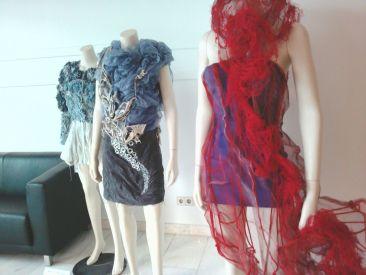 Blick in die Eco-Fashion-Ausstellung der Fahmoda im September.