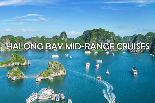 halong bay mid range cruises
