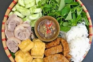 Bún Đậu Mắm Tôm (Noodle and Tofu with Shrimp Sauce)