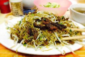 Miến Xào Lươn (Glass Noodles with Deep-Fried Eel)