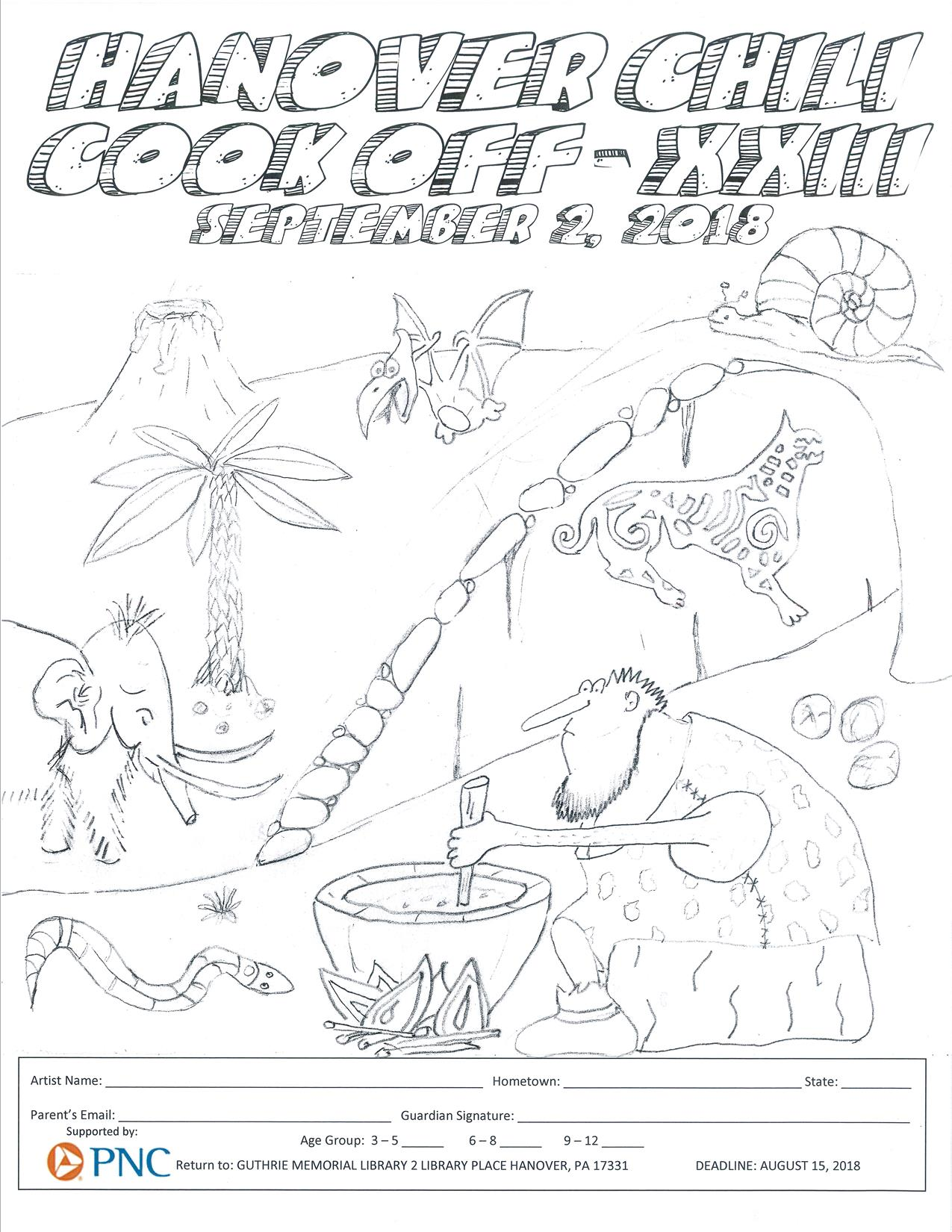 Coloring Contest | Hanover Chili Cook Off