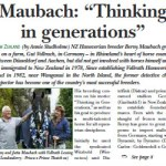 """Maubach: """"Thinking in generations"""""""