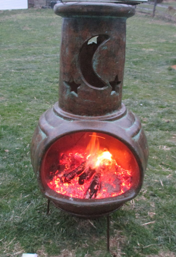 How to Cook with a Chiminea Clay fireplace  Hanover Koi Farms