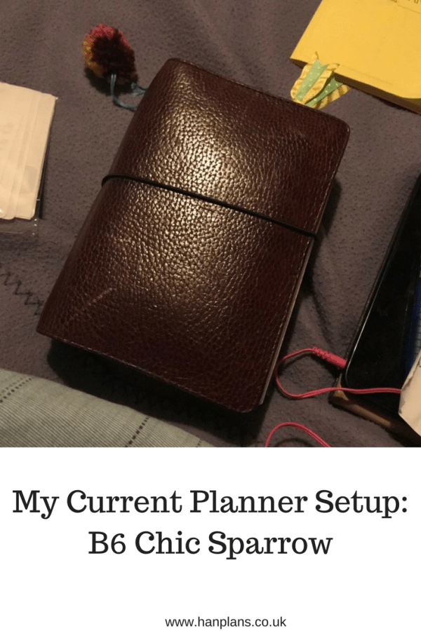 My Current Planner Setup: B6 Chic Sparrow