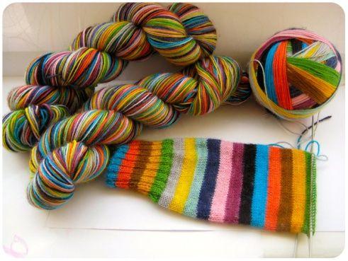 Mind the Gap Knitting Socks