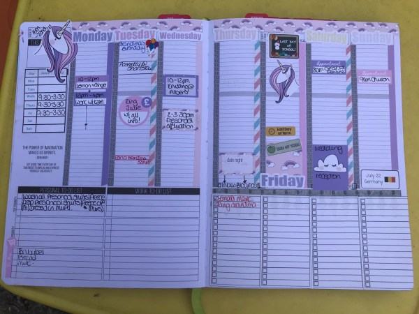 Week 16th - 22nd July using Mrs Brimbles stickers