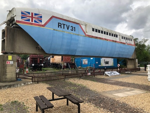 Maglev train at Nene Valley Railway