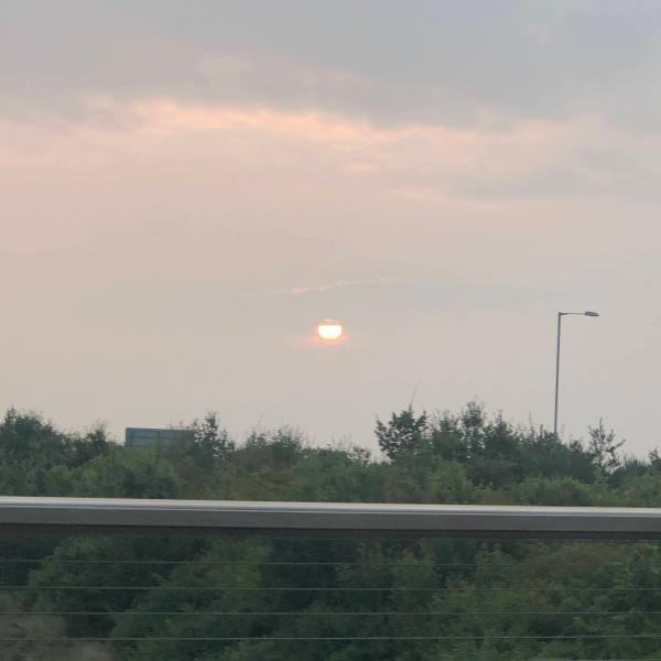 sunrise over the bypass