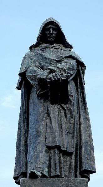 The Statue of Giordano Bruno at the Campo Fiero