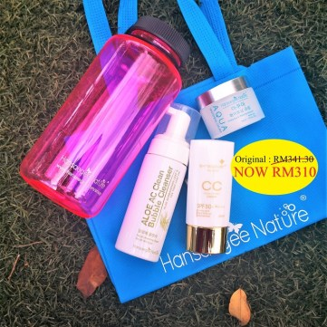 2. Combo Set = Cleanser + Aqua + CC Cream (FREE Recycle Bag + Bottle)