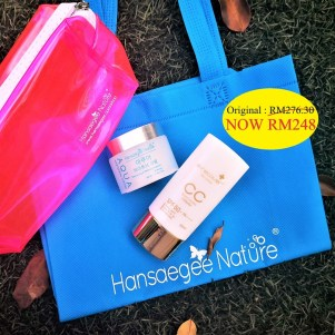 3. Combo Set = Aqua + CC Cream (FREE Recycle Bag + Transparent Bag (Pink))