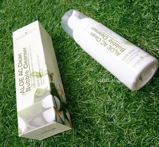 Aloe AC Clean Bubble Cleanser Produk Keluaran Hansaegee Nature Terbaik Untuk Kulit Berjerawat