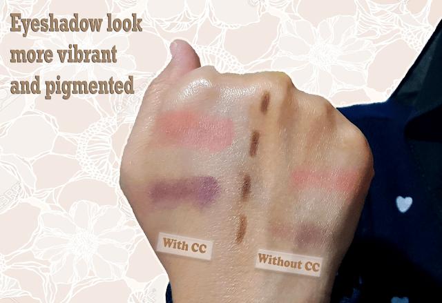 result sebelum and selepas sapuan CC Cream 2