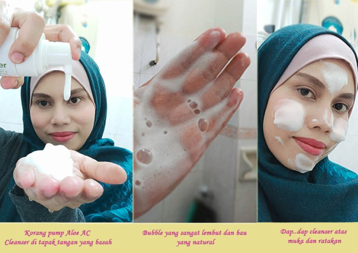 Bubble cleanser – soft dan watery.. sangat halus teksturnya dan lembut untuk cuci muka korang