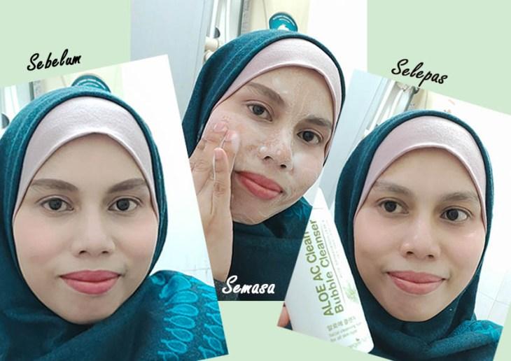 Jatuh hati terus guna Aloe AC Cleanser … bersih terus kesan makeup