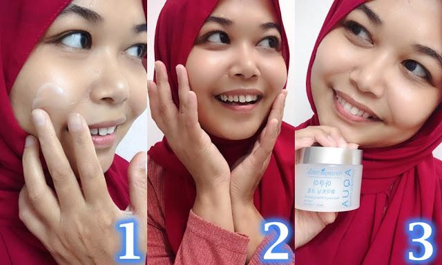 Cara Pakai Aqua Whitening Cream (Pelembab) Moisturizer Water Based