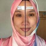 Perbezaan kulit wajah antara mengenakan CC Cream