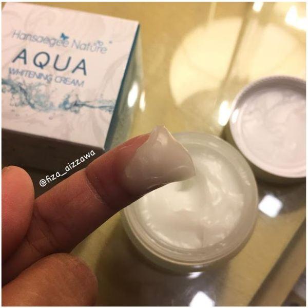 Texture Aqua whitening Cream