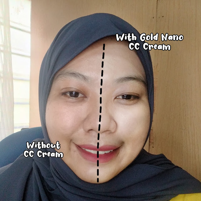 selepas sapu pada kulit wajah