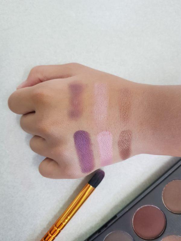 testing tangan makeup nampak pigmented