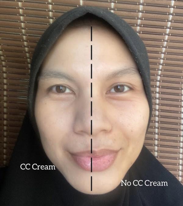 hasil perbezaan selepas pakai cc cream