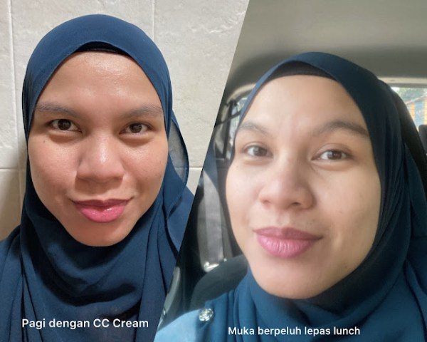 perbezaan muka pagi dan tengah hari