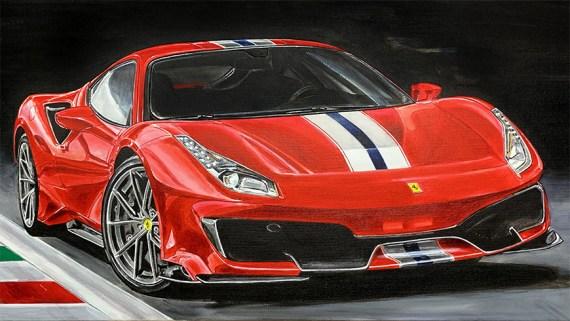 Ferrari 458 Speciale Artwork by Hans Baakman