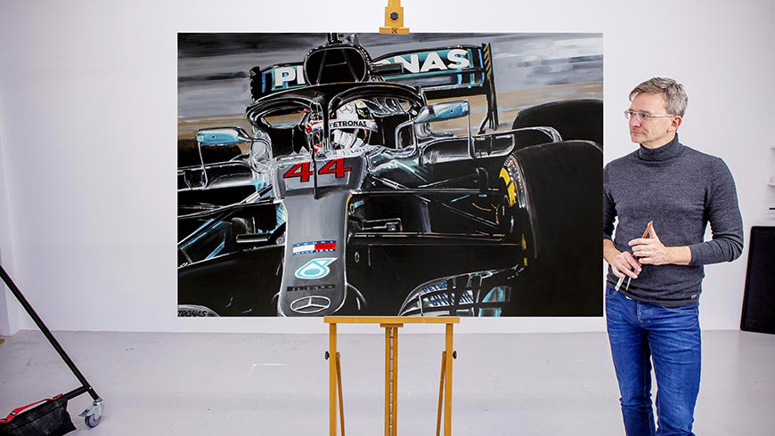 Lewis Hamilton Artwork by Hans Baakman