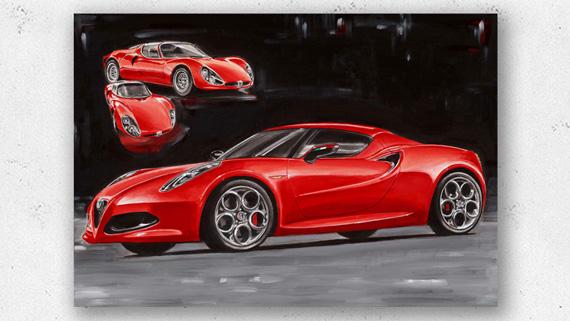 Alfa Romeo 4C Artwork Hans Baakman
