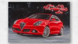 Artwork Alfa Romeo Giulietta Hans Baakman