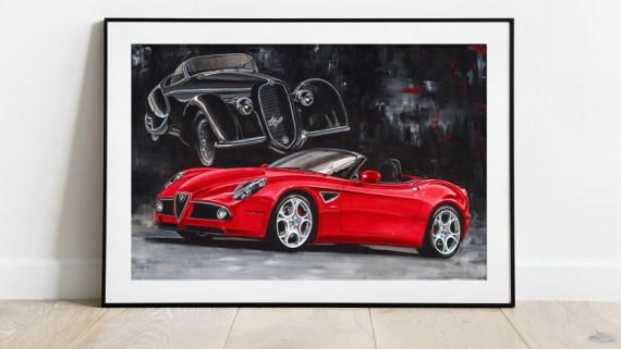 Alfa Romeo 8C Artwork Hans Baakman