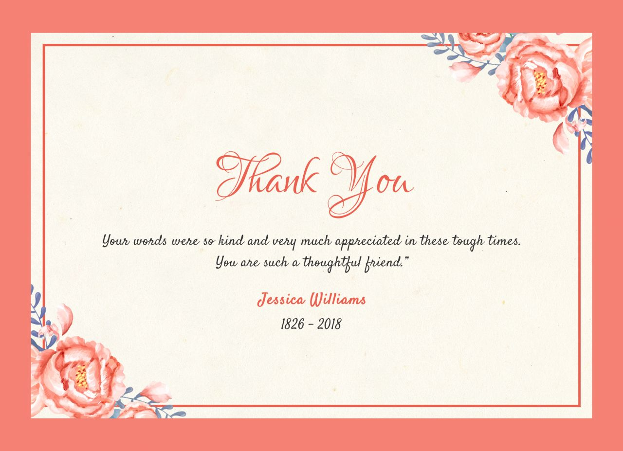 After the Funeral - Thank You Notes - Quincy, IL Funeral Home