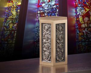 Urn at Church | Hansen-Spear Funeral Home - Quincy, Illinois