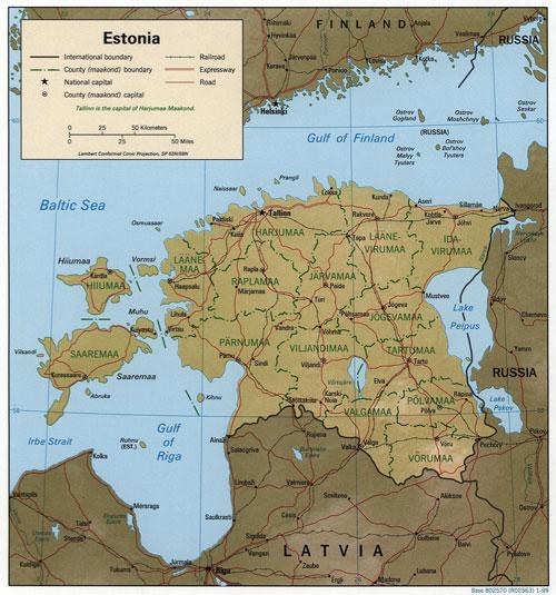 Estonia Map   Hansen-Spear Funeral Home - Quincy, Illinois