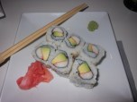 my first sushi experience