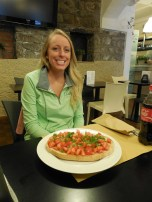 laur fell in love with bruschetta during our trip! :P