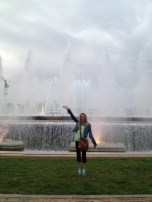 at the magic fountain