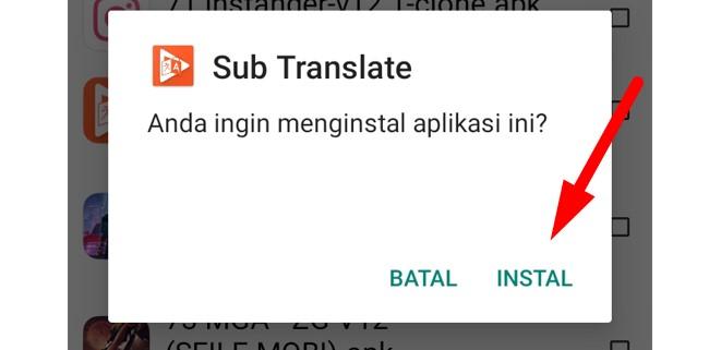 Cara Instal Sub Translate Apk