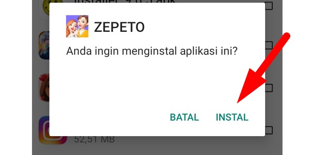 Cara Instal Aplikasi Zepeto