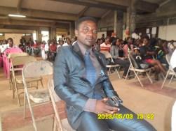 Nfor hanson Nchanji, JMC Alumni in pensive mood
