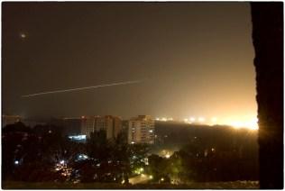 Plane landing outside Swiss Hotel, Beijing, 2007 :: copyright Richard Hanson