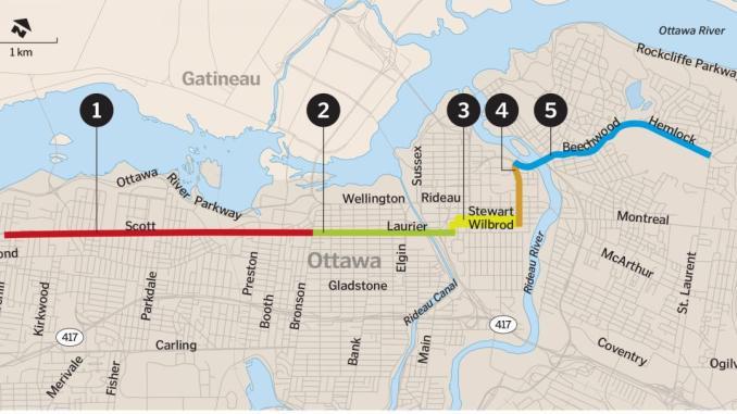 Bikeway image by Dennis Leung - Ottawa Citizen