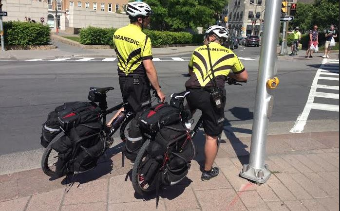 Ottawa's First responders use PedalEasy -ebikes to get around downtown.