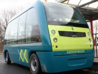 autonomous Connexxion shuttle in Capelle