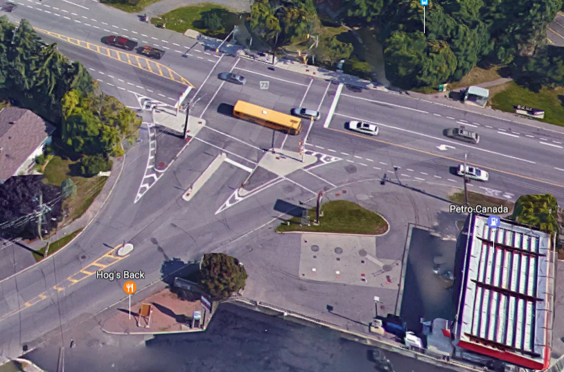 The current Dynes - Prince of Wales intersection is one grand oversized asphalt fest