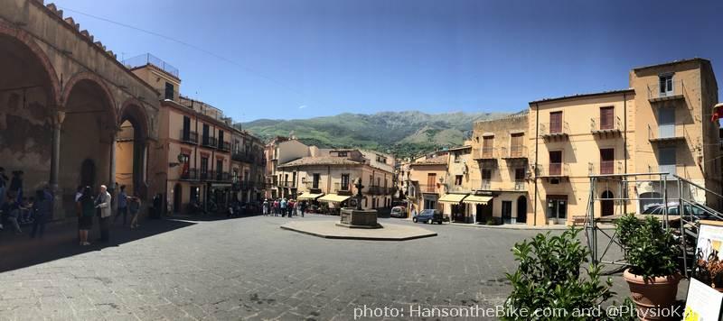 Central square in Castelbuono